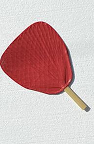 Binchotan Fan Uchiwa Muji Aka Ami- Iri
