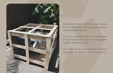 repurposed shipping crates