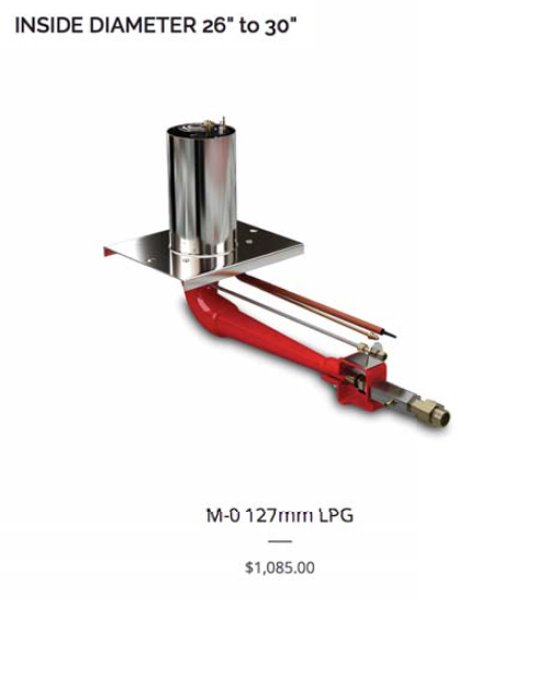 M-Series Oven Gas Burner