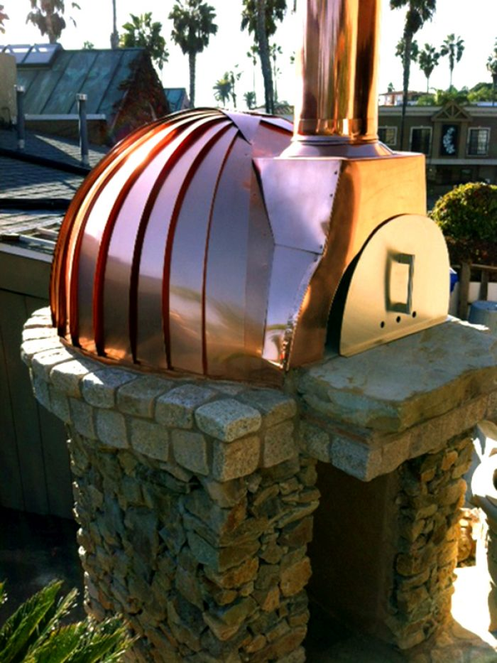 Milano Copper Clad Wood Fired Oven Solana Beach CA