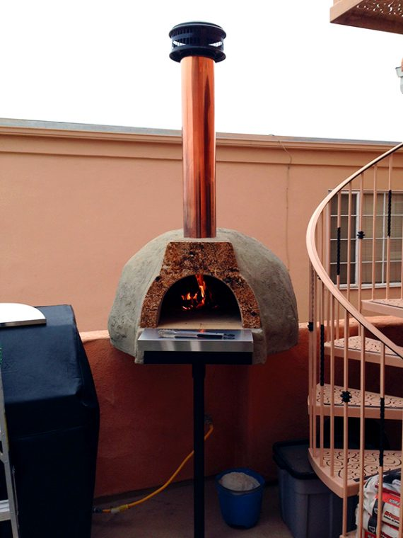 Milano Wood Fired Oven Adobe Finish San Diego,CA