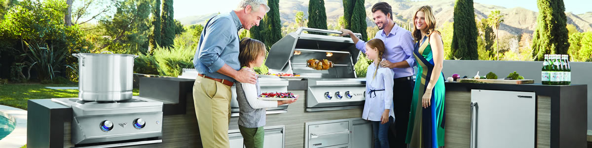 premium built-in grills for outdoor kitchens