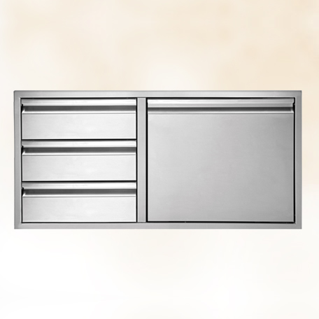 Three Drawer Door-Combo 36""